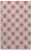 rug #640029 |  pink check rug