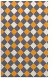 rug #640037 |  light-orange check rug