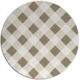 rug #640041 | round beige check rug
