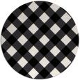 rug #640045 | round white check rug