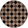 rug #640057 | round brown check rug