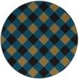 rug #640061 | round brown check rug