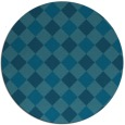 rug #640093 | round blue-green check rug