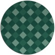rug #640097 | round blue-green check rug
