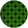 rug #640109 | round green check rug