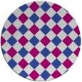 rug #640143 | round check rug
