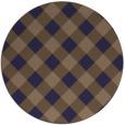 rug #640149 | round beige check rug