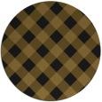 rug #640157 | round mid-brown rug