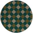 rug #640161 | round brown check rug