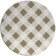 rug #640181 | round white check rug