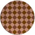 rug #640185 | round brown check rug