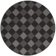 rug #640189 | round brown check rug
