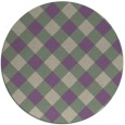 rug #640221 | round purple check rug