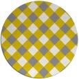 rug #640225 | round check rug