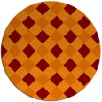 rug #640229 | round red-orange check rug