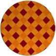 rug #640230 | round check rug