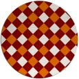 rug #640233 | round orange geometry rug