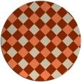 rug #640237 | round beige check rug