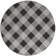 rug #640241 | round red-orange check rug