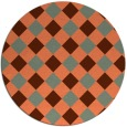rug #640244 | round check rug