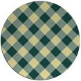 rug #640245 | round yellow check rug