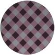 rug #640277 | round purple check rug