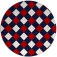 rug #640281 | round red check rug