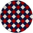rug #640282   round check rug