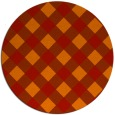 rug #640285 | round red check rug