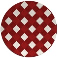 rug #640289 | round red check rug