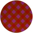 rug #640293 | round red check rug