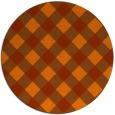 rug #640297 | round red-orange check rug
