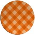 rug #640301 | round red-orange check rug