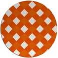 rug #640309 | round red-orange check rug