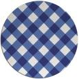 rug #640321 | round blue check rug
