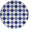 rug #640323 | round check rug
