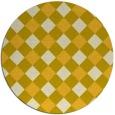 rug #640329 | round yellow check rug