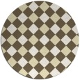 rug #640333 | round yellow check rug