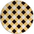 rug #640337 | round brown check rug