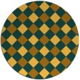 rug #640345 | round yellow check rug