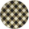 rug #640350   round check rug