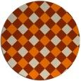 rug #640357   round beige check rug