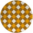 rug #640377 | round light-orange check rug