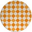rug #640385 | round light-orange check rug