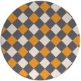 rug #640389 | round light-orange check rug