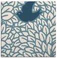 rug #640769 | square blue-green animal rug