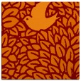 rug #640933 | square red-orange animal rug