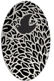 rug #641101 | oval white animal rug