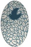 rug #641121 | oval white animal rug
