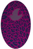 rug #641125 | oval blue animal rug
